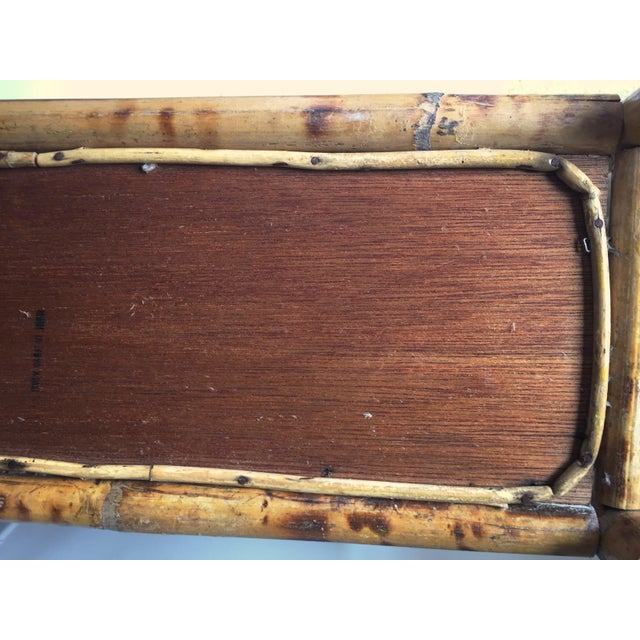 Vintage Scorched Bamboo Rattan Shelf - Image 5 of 6