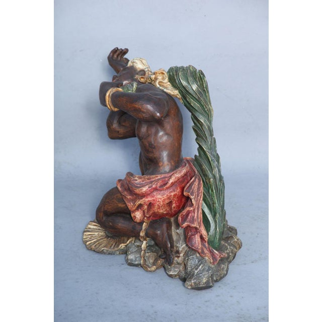 Ithophallic Blackamoor Table For Sale In West Palm - Image 6 of 10