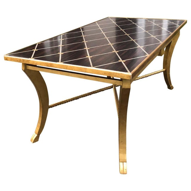 Amy Howard Inlaid Wood Coffee Table For Sale - Image 12 of 12