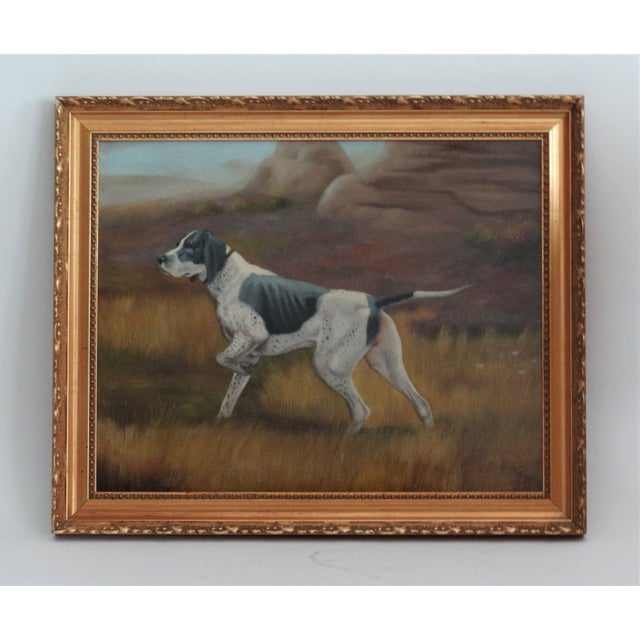 English Traditional Sporting Hunting Dog Oil Painting English School For Sale - Image 3 of 5