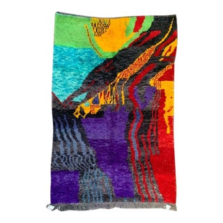 1990s Special Designed Ben Ourain Rug - 5′4″ × 8′2″ For Sale