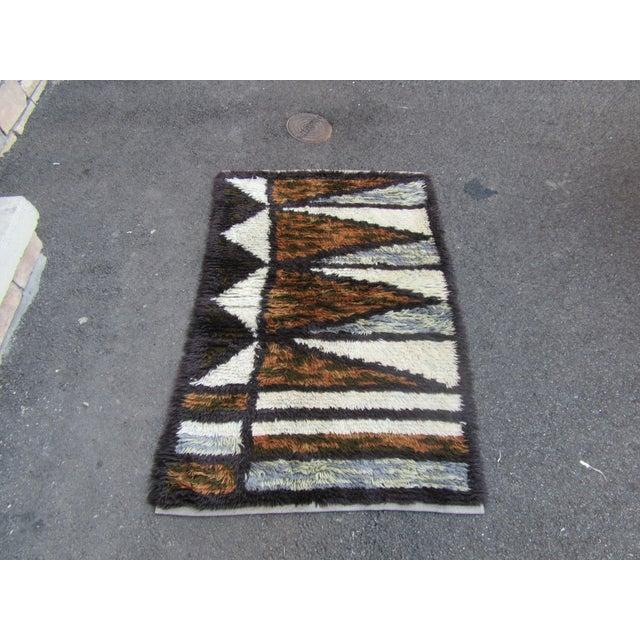 "Swedish Rya Carpet -- 3'1"" x 4'9"" - Image 3 of 10"