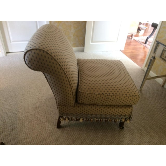 Traditional 1990s Traditional Pierre Frey Upholstery Cream Slipper Chair For Sale - Image 3 of 11