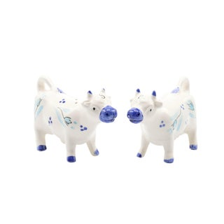 Japanese Ceramic Cow Salt & Pepper Shakers For Sale
