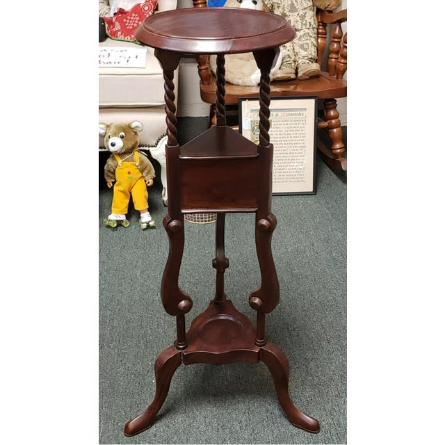 English 1880 English Victorian Queen Anne Style Mahogany Wash Stand For Sale - Image 3 of 9