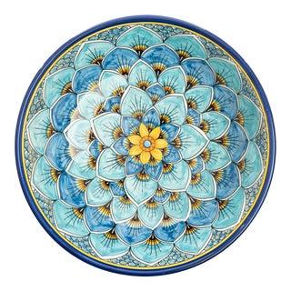 Salad Bowl Blue Peacock Design, Geribi For Sale