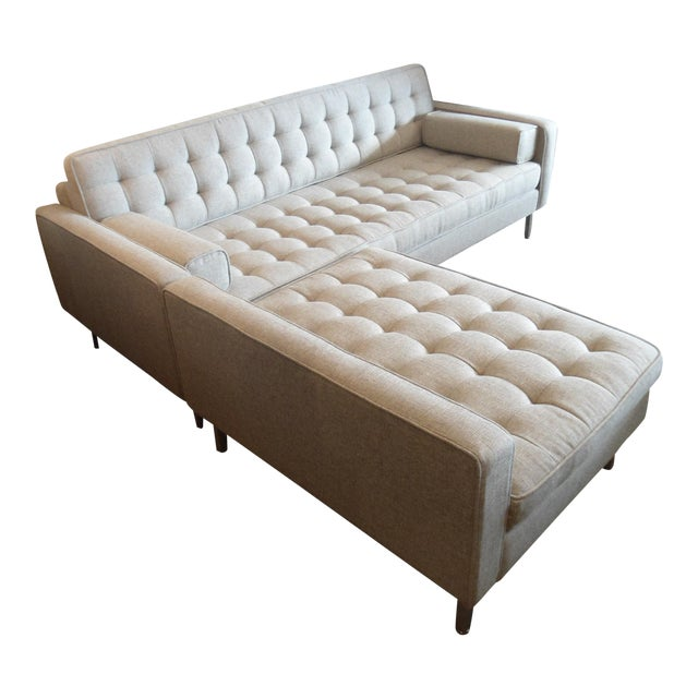 """Gus Spencer Loft Bi-Sectional in """"Leaside Driftwood"""" Colorway For Sale"""