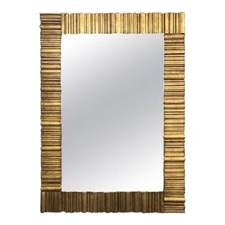 Large Gold Transitional Gilt Wall Mirror For Sale