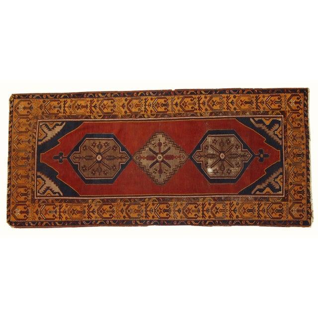 Antique Turkish Anatolian Rug - 4′1″ × 9′1″ - Image 9 of 10