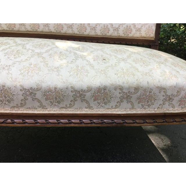 Louis XVI 19th C. Louis XVI Style Walnut Settee For Sale - Image 3 of 9