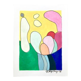 2010s Pop Art Original Painting, Abstraction #1 by Neicy Frey For Sale