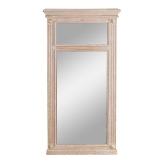 Antique French Oak Frame & Mercury Mirror For Sale