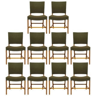 Set of Ten Kaare Klint Dining Chairs For Sale