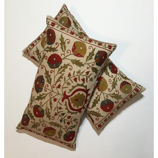 Hand Embroidery Suzani Pillows - A Pair - Image 8 of 11