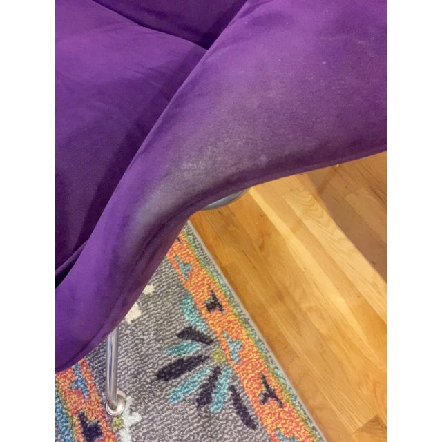Mid-Century Modern Authentic Eero Saarinen for Knoll Purple Womb Chair For Sale - Image 11 of 12
