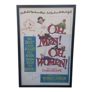 "1957 ""Oh Men! Oh Women!"" Movie Poster"