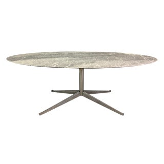 Mid-Century Modern Dining Table in Arabescato Marble by Florence Knoll For Sale
