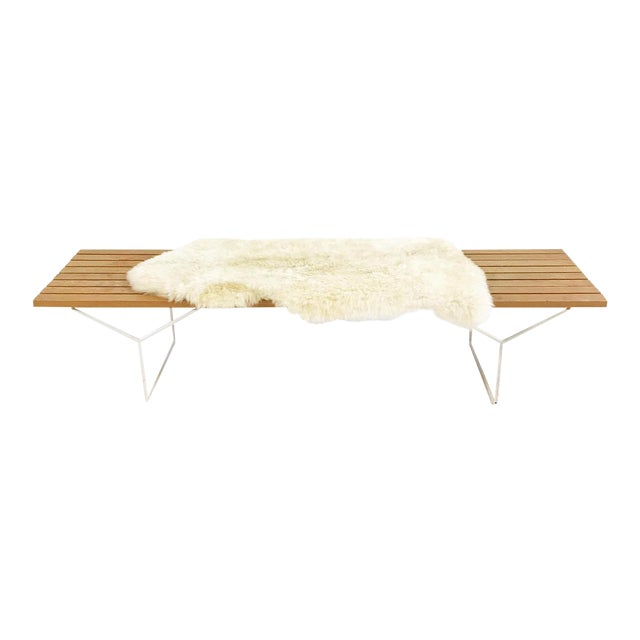 Sophisticated Harry Bertoia For Knoll Slat Bench With Brazilian - Bertoia coffee table