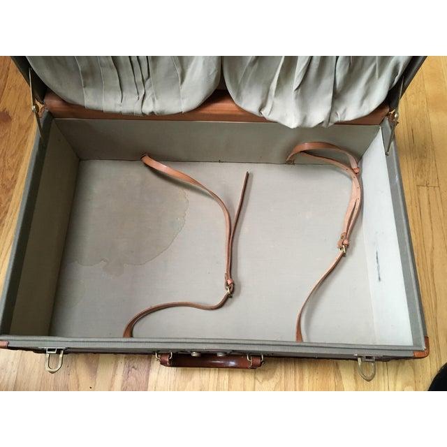 Vintage Ralph Lauren Canvas/Leather Suitcase For Sale - Image 6 of 13