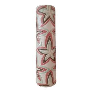 Mid Century Star Motif Chromatic Pastel Vase For Sale