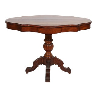 Early 20th-Century Victorian Rococo Style Mahogany Center Table For Sale