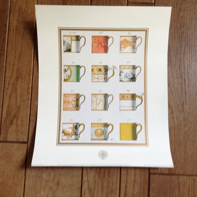 Sevres Tea Cup Museum Prints - Set of 3 For Sale - Image 4 of 5
