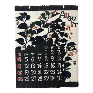 Mid Century Japanese Calendar Print Art August For Sale