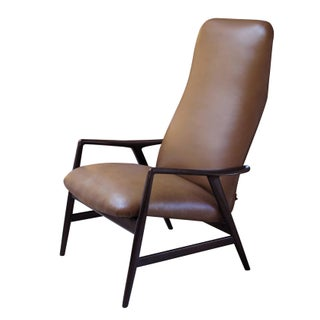 Alf Svensson Fritz Hansen Danish Modern Reclining Lounge Chair For Sale