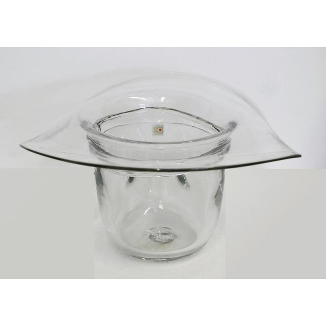 American Blenko Cowboy Hat Ice Bucket For Sale - Image 3 of 5