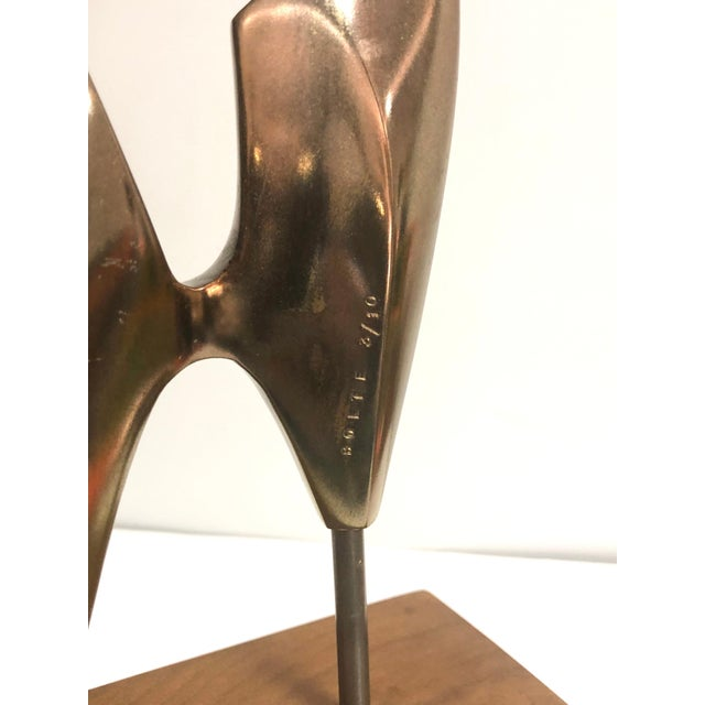 Metal Modernist Bronze Abstract Sculpture by Bolte For Sale - Image 7 of 11