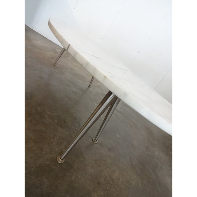 Mid-Century Marble Kidney Coffee Table For Sale - Image 4 of 8