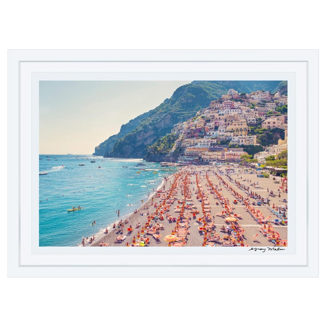 "Gray Malin Large Limited Edition ""Positano Beach"" (La Dolce Vita) Signed Framed Print - Image 1 of 3"
