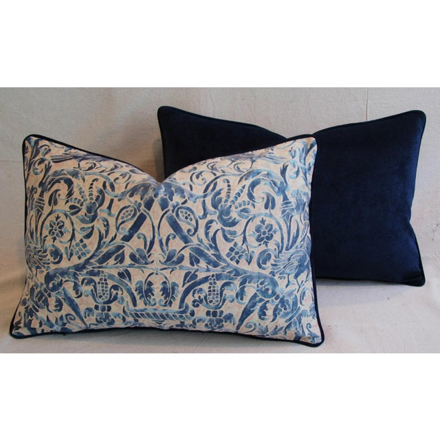 Italian Fortuny Uccelli Down Pillows - A Pair - Image 10 of 11