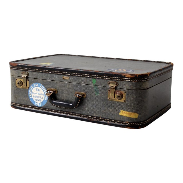 Vintage Suitcase With Travel Stickers - Image 1 of 7