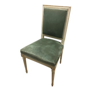 Late 19th Century Vintage French Painted and Carved Occasional Chair For Sale