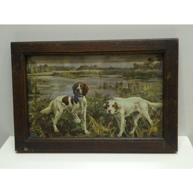 Americana Circa 1900 Bird Dogs Framed Print For Sale - Image 3 of 6