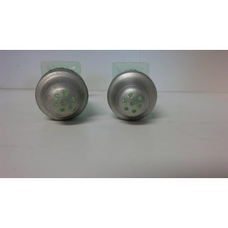 Vintage Miss America Green Salt and Pepper Shakers - a Pair Preview