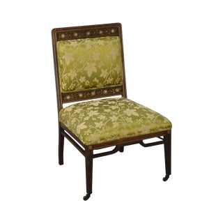 Herter Brothers Attributed Antique Aesthetic Inlaid Side Slipper Chair