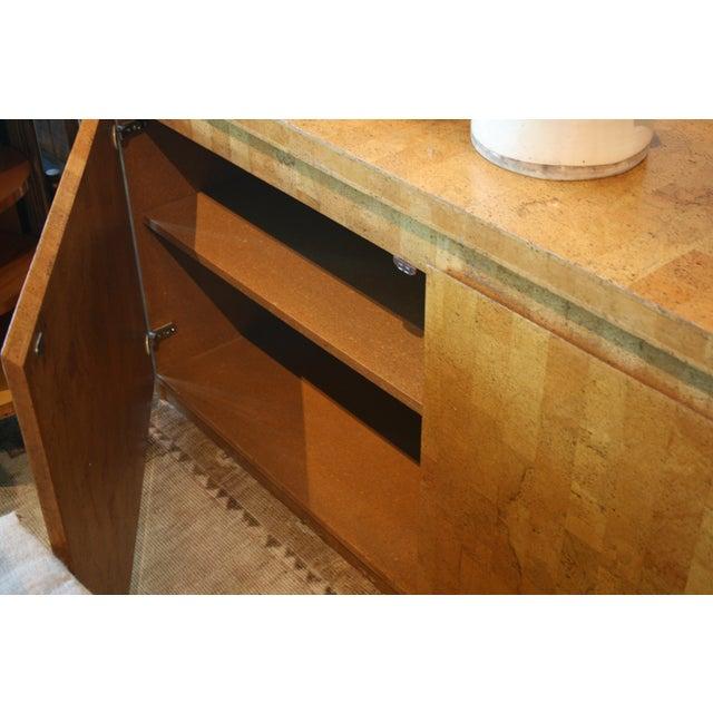 Brown 1960s Mid-Century Modern Cork Two Door Cabinet For Sale - Image 8 of 10