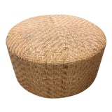 Image of Modern Tan Elia Ottoman For Sale