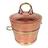 Image of Vintage Copper and Brass Ice Bucket For Sale