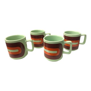 1960's Brazilian Coffee Mugs - Set of 4 For Sale