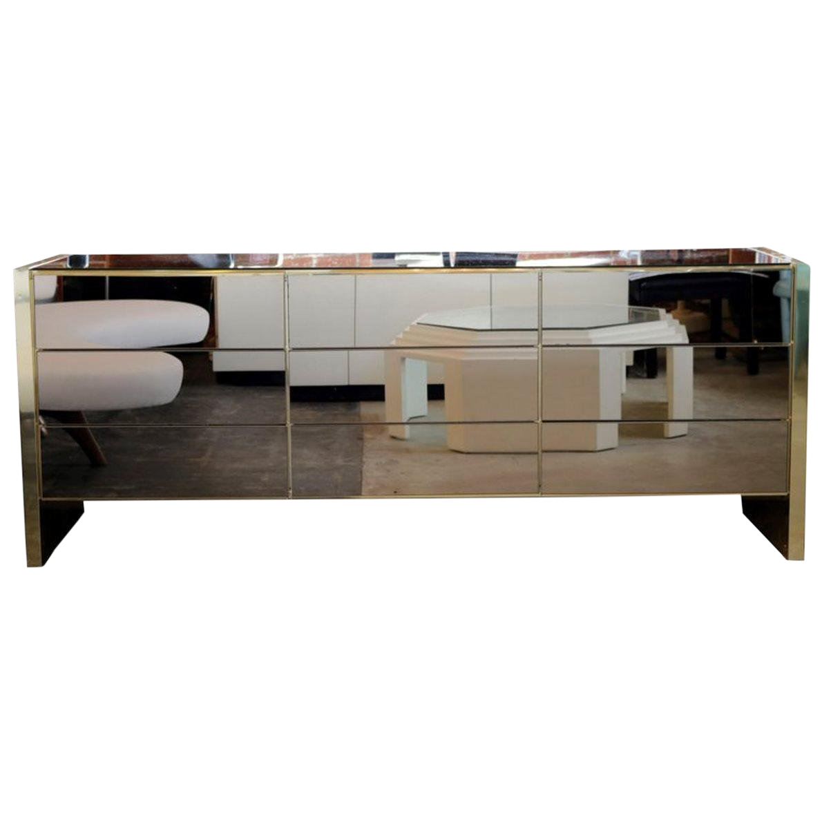 Delicieux Bronze Mirror Chest Of Drawer By Ello Furniture