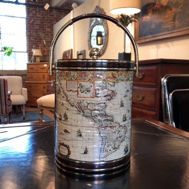 Mid-Century Map Ice Bucket - Image 11 of 11