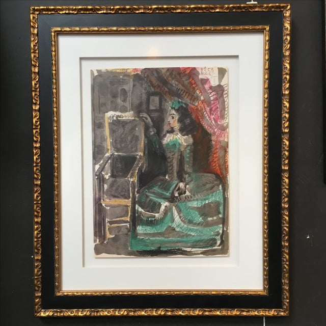 Picasso Untitled #2 Unsigned Print - Image 2 of 4
