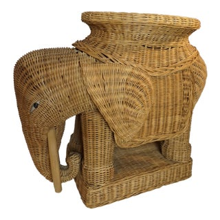 Wicker Elephant Occassional Table/ Tray Top