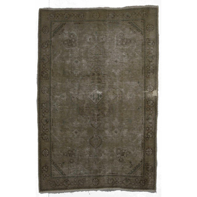 Vintage Mid-Century Hand-Knotted Wool Persian Tabriz Rug - 3′ × 4′8″ For Sale - Image 4 of 4