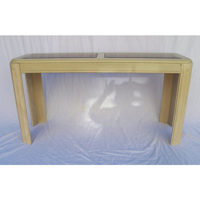 1980s White Washed Console from Yellow Pine - Image 2 of 6