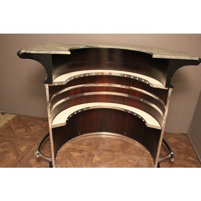 Midcentury Italian Half Moon Dry Bar Counter For Sale - Image 10 of 12