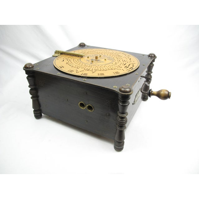 Ariston Organette, produced by Paul Ehrlich of Germany, 1880'a or 1890's. The Ariston is a 24 note machine with...
